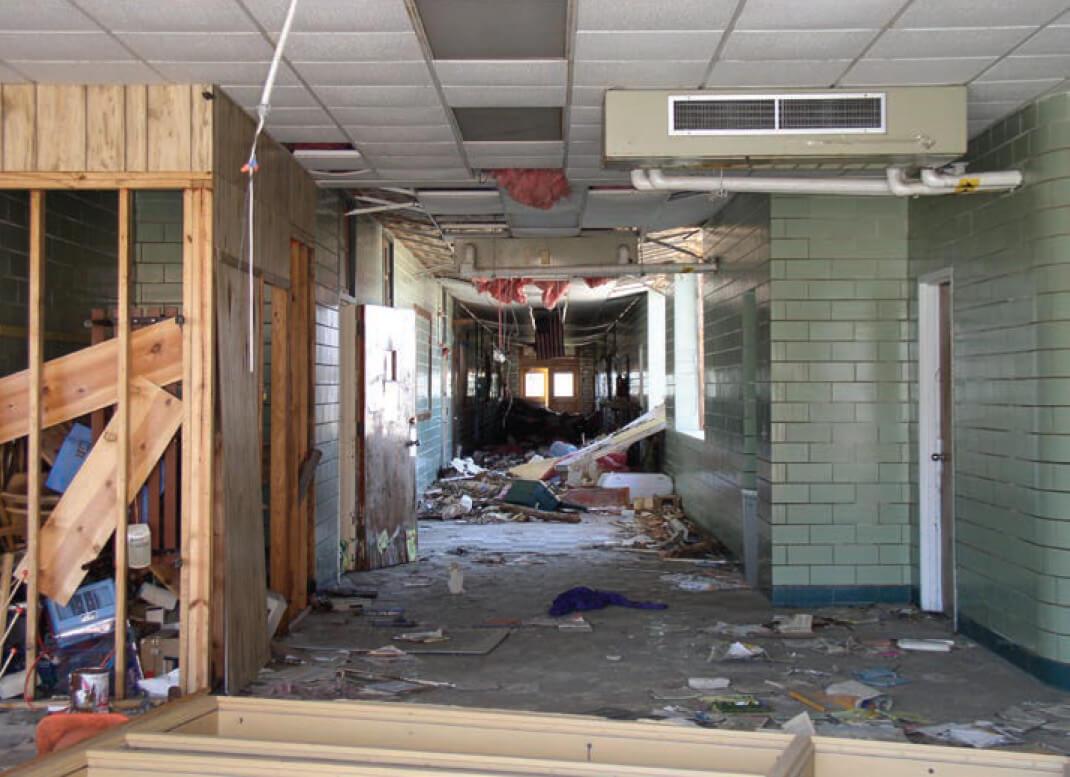 South Plaquemines Elementary following Hurricane Katrina