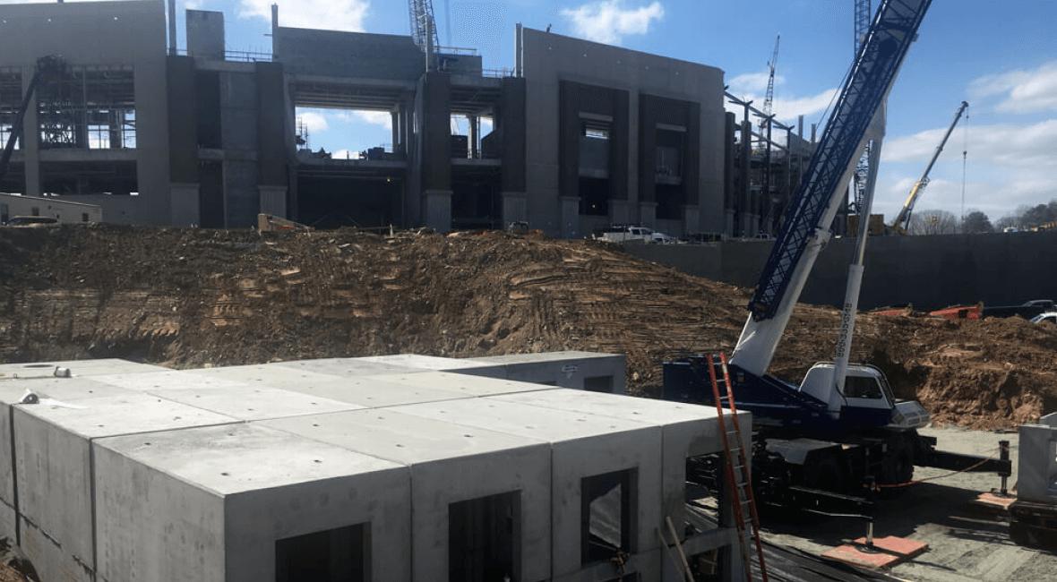 Oldcastle's involvement with the new Braves Stadium in Atlanta
