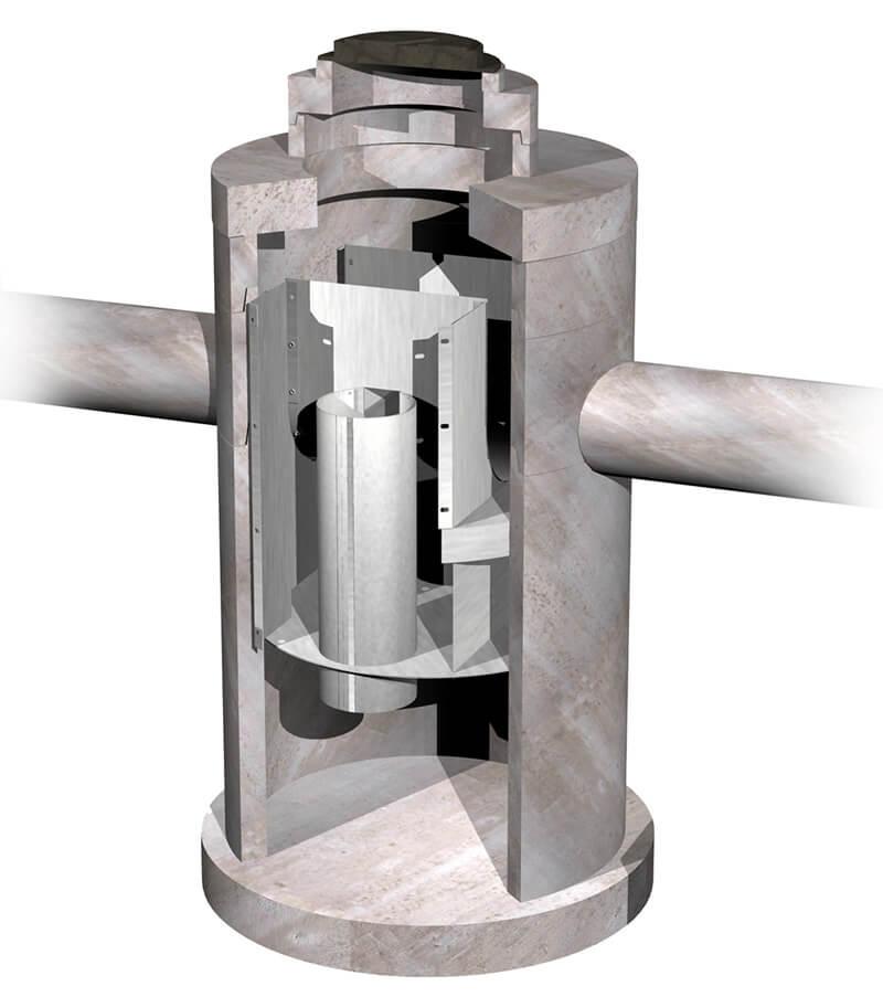 Hydrodynamic dual vortex separator