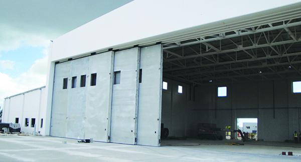A precast hangar is weather-resistant.