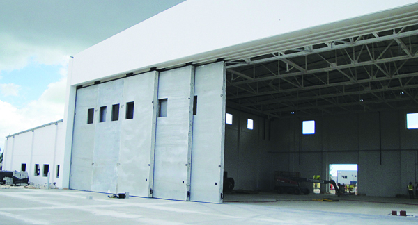 A precast hangar is weather-resistant.