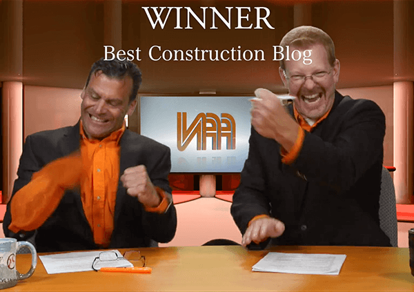 Best Construction Blog winners Frick & Frack!