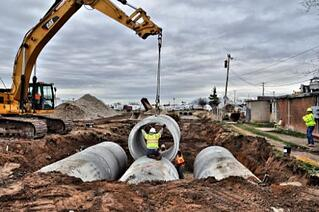 reinforced concrete pipe installation