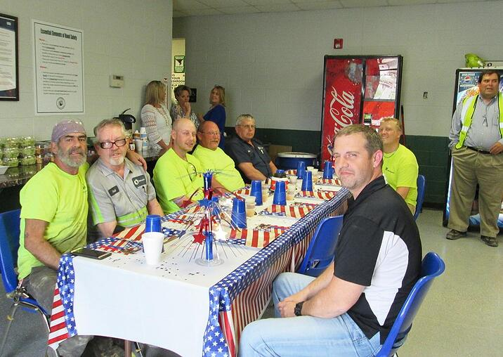 Oldcastle Precast serves its veteran employees a four-course meal