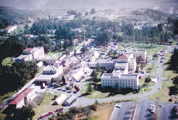 USGS 1971 San Fernando earthquake Collapse of four buildings at the Veterans Hospital