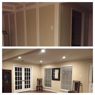 home model results before (top) and after (bottom)