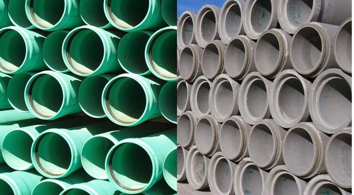 Reinforced Concrete Pipe vs  Plastic Pipe