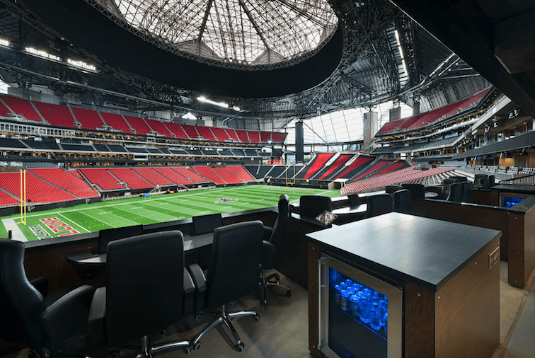 Oldcastle provides unique building solutions for the Mercedes-Benz stadium.