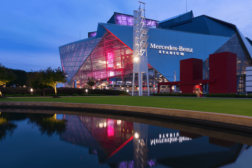 Mercedes Benz Stadium and Oldcastle Building Solutions